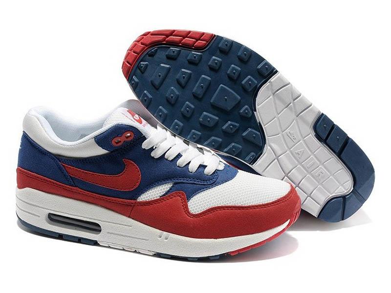 8955b0a3 Кроссовки Nike Air Max 87 красно-синие с белым мужские - купить в ...