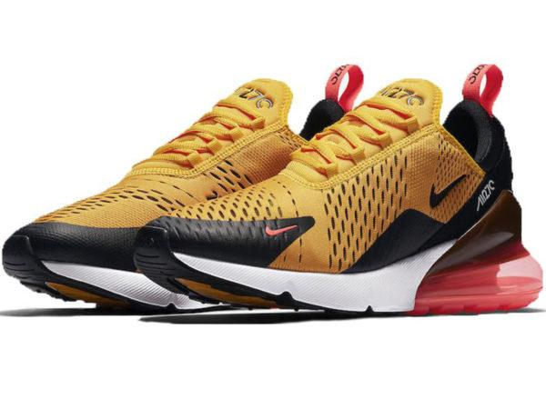 Nike Air Max 270 желтые с черно-красным