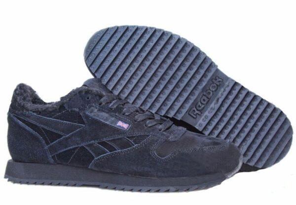 Зимние замшевые кроссовки