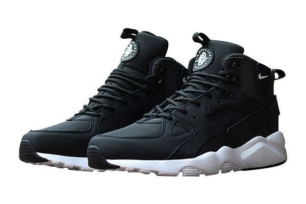 Зимние Nike Air Huarache Winter Black White черно-белые (35-40)