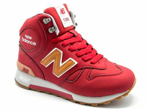 New Balance 1300 нубук с натуральным мехом красные (36-41)