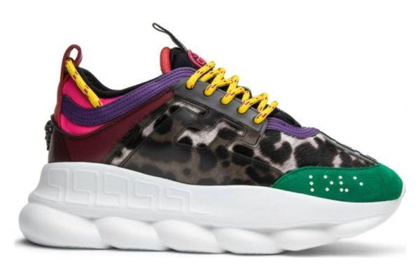 Зеленые кроссовки Versace