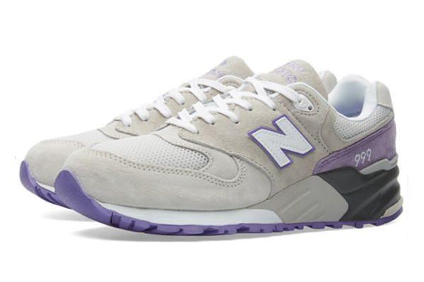Кроссовки New Balance 999 серые с фиолетовым (36-40)
