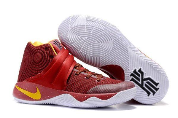 Nike Kyrie 2 red yellow красные с желтым (40-45)
