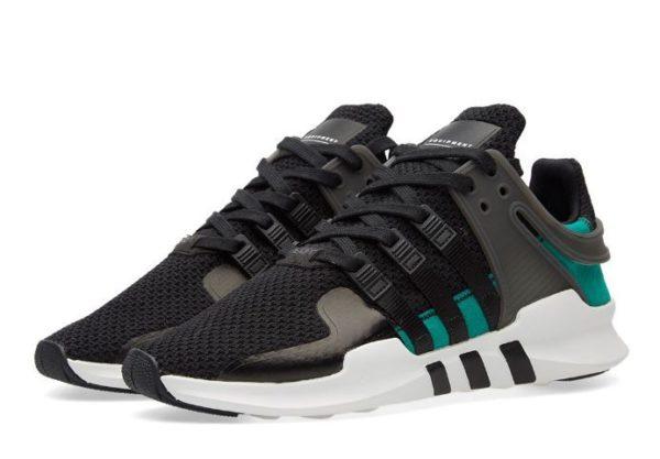 """Adidas EQT Support """"ADV"""" черные с зеленым (35-44)"""