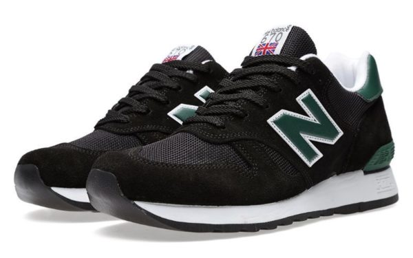New Balance 670 черные с зеленым (40-44)