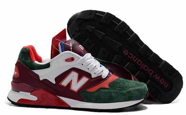 New Balance 878 зеленые с красным и белым (39-43)