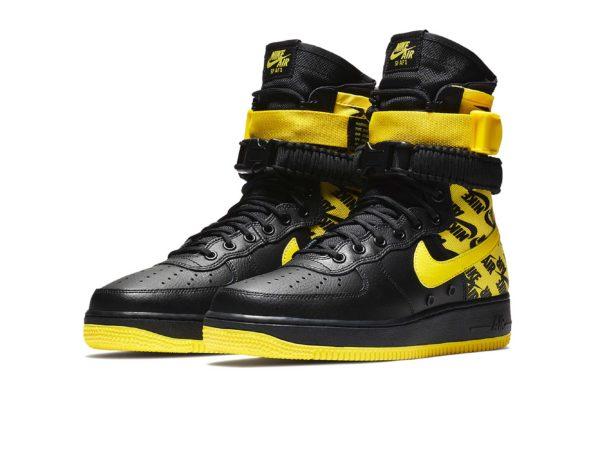 Nike Air Force 1 SF Mid черно-желтые (40-44)