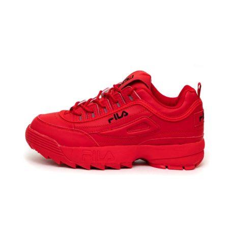 Красные кроссовки Fila